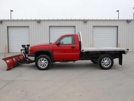 2006 Chevrolet Silverado 2500 HD Aluminum Flatbed with 7'6 Western Plow for Sale  - 5585  - Auto Drive Inc.