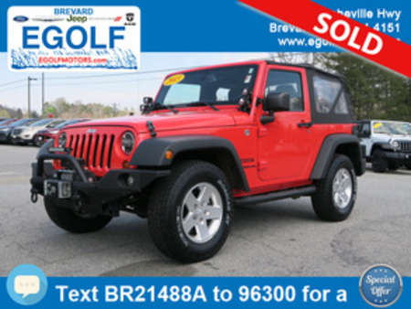 2013 Jeep Wrangler Sport for Sale  - 21488A  - Egolf Motors