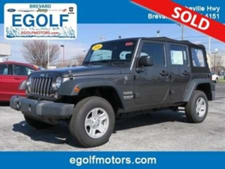 2016 Jeep Wrangler Sport for Sale  - 82164  - Egolf Motors