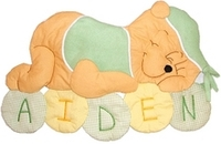 Kids Personalized Fabric Wall Hangings