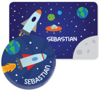 Space, Monster & Robot Placemats with Melamine Plate/Bowl