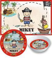 Pirate Placemats with Melamine Plate/Bowl