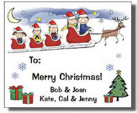 Holiday Gift Stickers & Address Labels