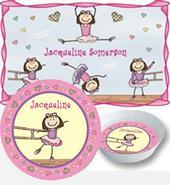 Ballerina Placemats with Melamine Plate/Bowl