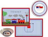 Boys Placemats with Melamine Plate/Bowl