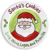Santa Cookie Plates