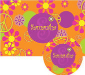 Peace Placemats with Melamine Plate/Bowl