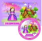 Princess & Prince Placemats with Melamine Plate/Bowl