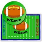 Sports Placemats with Melamine Plate/Bowl