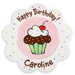 Happy Birthday Sprinkles Scalloped Plate for Girls