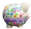 Spring Garden Personalized Piggy Bank