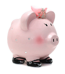 Chic Princess Piggy Bank Personalization Available Curly Out Of Stock