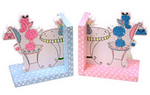 Pastel Flowered Bookends-CURRENTLY OUT OF STOCK (Personalization available)