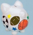 Sports Large Piggy Bank (Personalization available)