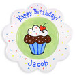 Happy Birthday Sprinkles Scalloped Plate for Boys