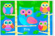 Colorful Owls Personalized Placemat