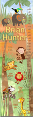 Jungle Animals Personalized Growth Chart