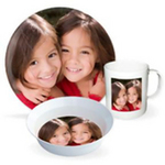 Photo Dinnerware Set with Plate, Bowl & Mug