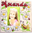 Bright Daisies & Ladybugs Picture Frame