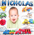 Cars & Trucks Personalized Picture Frame