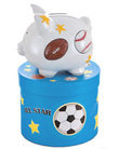 Sports Small Piggy Bank (Personalization available)