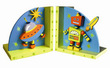 Outer Space Robot Bookends