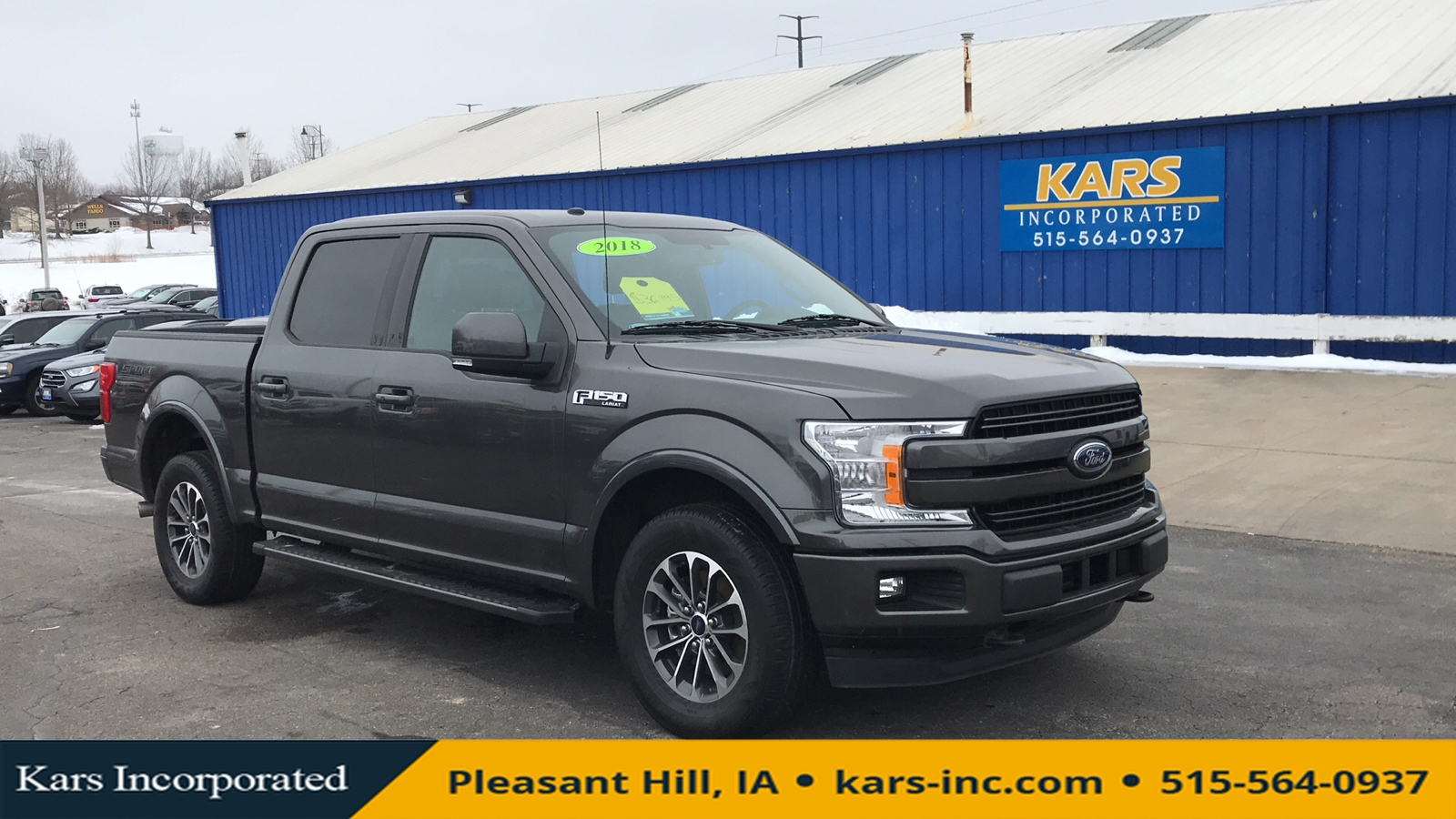 2018 Ford F-150 SUPERCREW 4WD  - J49386P  - Kars Incorporated