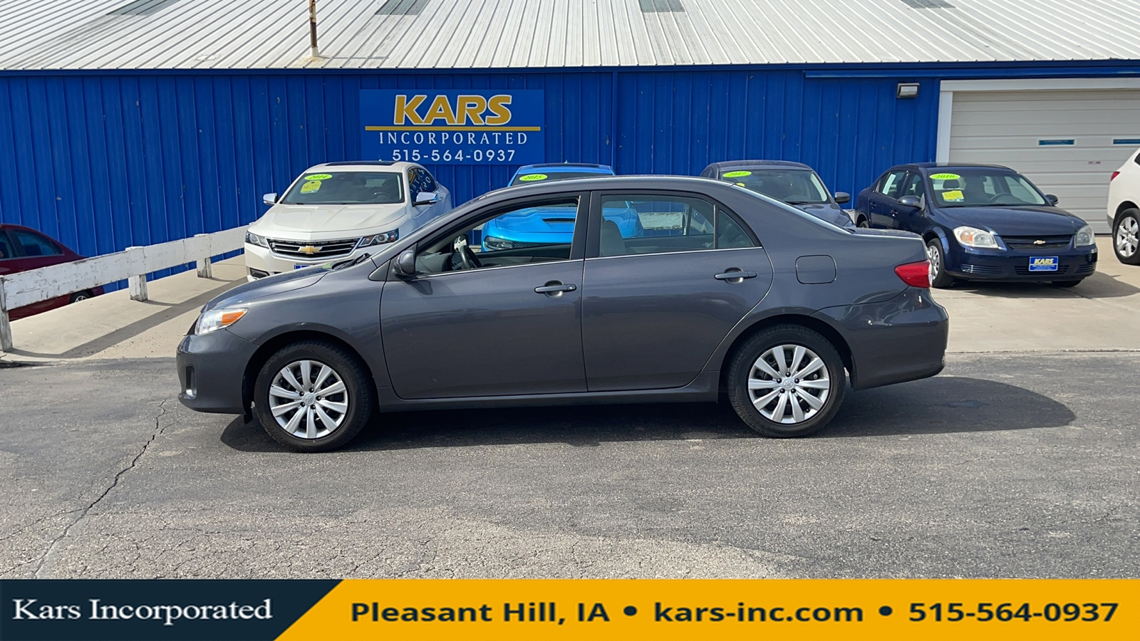 2013 Toyota Corolla BASE  - D25091P  - Kars Incorporated