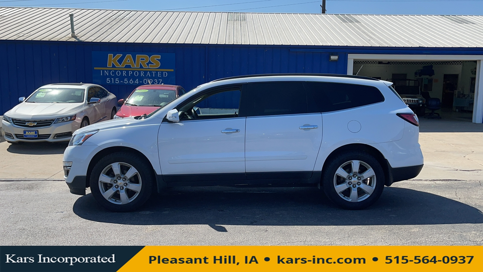 2016 Chevrolet Traverse LT AWD  - G38038P  - Kars Incorporated