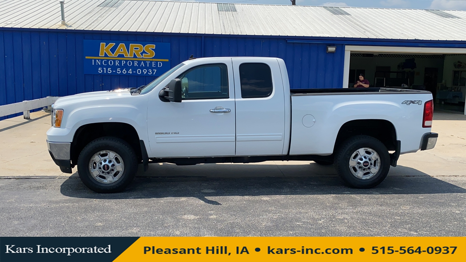 2013 GMC Sierra 2500HD 2500 SLE 4WD Extended Cab  - D53440P  - Kars Incorporated