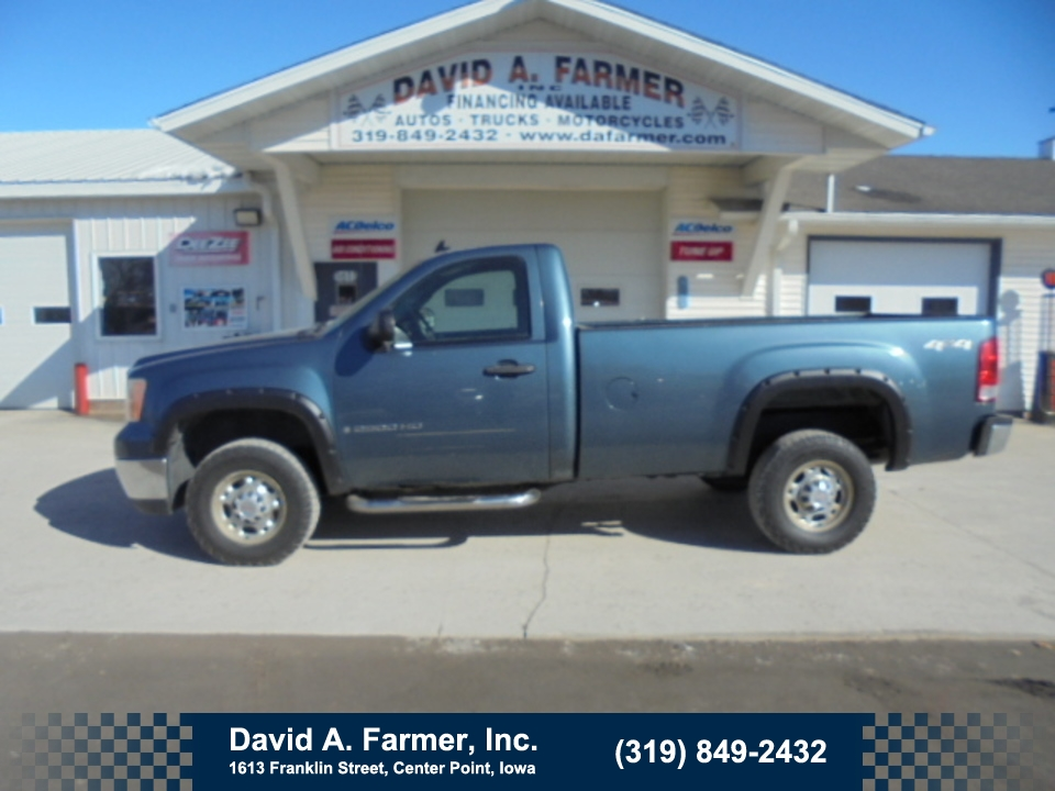2007 GMC Sierra 2500 HD SLE Regular Cab  4X4**2 Owner/Remote Start**  - 4652  - David A. Farmer, Inc.