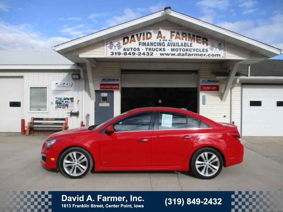 2015 Chevrolet Cruze LTZ 4 Door RS**Heated Leather/Sunroof**  - 5042-1  - David A. Farmer, Inc.