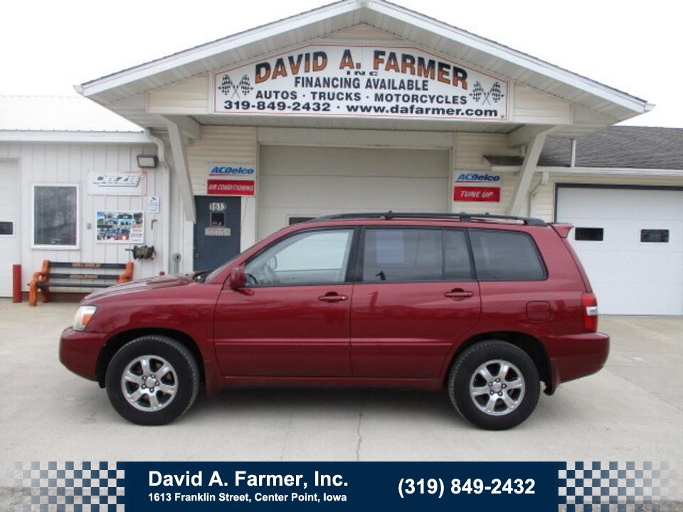 2007 Toyota Highlander Base FWD**Sunroof/Sharp**  - 4923  - David A. Farmer, Inc.