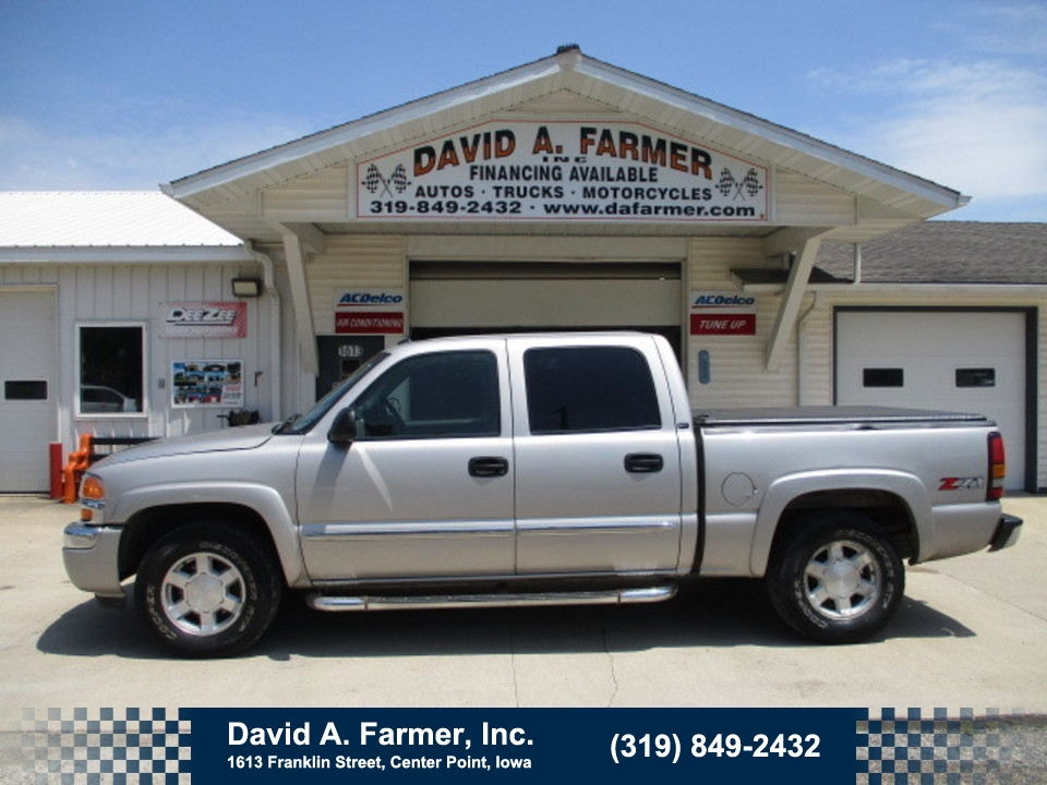 2005 GMC Sierra 1500 SLT Crew Cab 4X4 Z71*Heated Leather/Bose Stereo*  - 4739  - David A. Farmer, Inc.