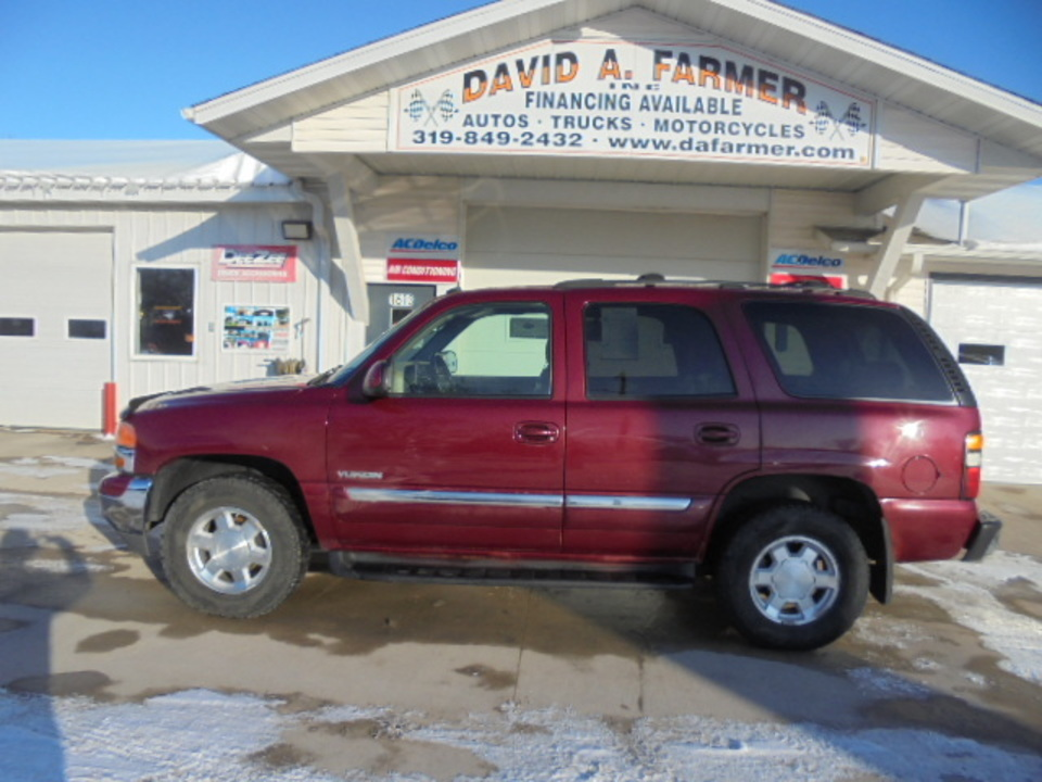 2004 GMC Yukon SLT 4 Door 4X4*DVD/3rd Row/Sunroof/Leather*  - 4613-1  - David A. Farmer, Inc.