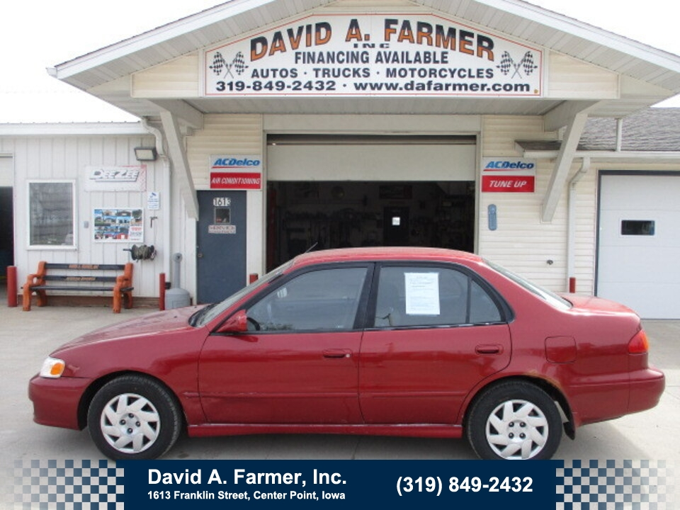 2001 Toyota Corolla S 4 Door**Low Miles/72K**  - 4936  - David A. Farmer, Inc.