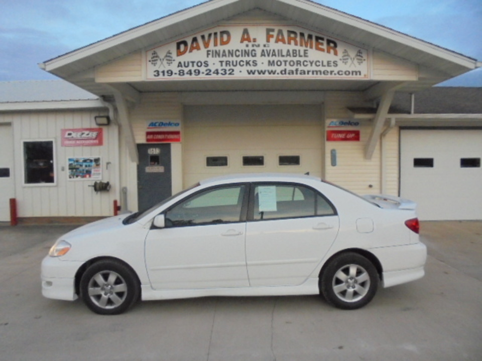 2005 Toyota Corolla S 4 Door**1 Owner**  - 4574  - David A. Farmer, Inc.