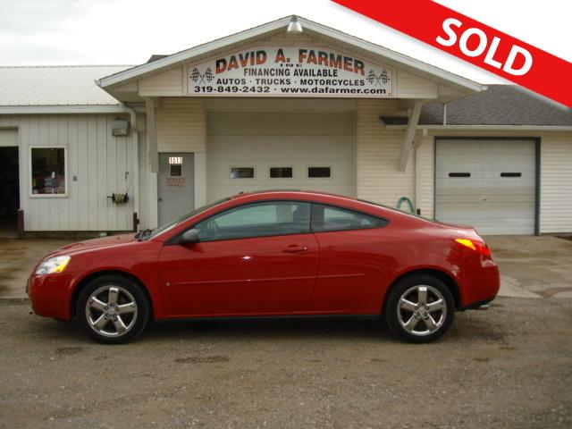 2006 Pontiac G6 Gt 2 Door Coupe Stock 3143 1 Center Point Ia 52213