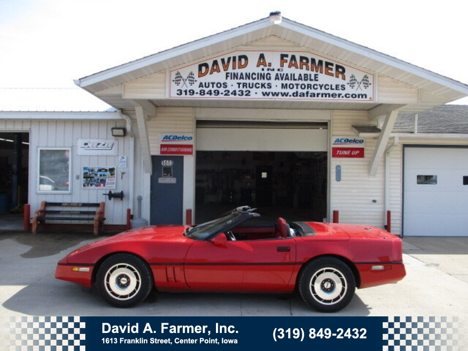 1987 Chevrolet Corvette 2 Door Convertible**Clean/Low Miles/63K**  - 5104  - David A. Farmer, Inc.