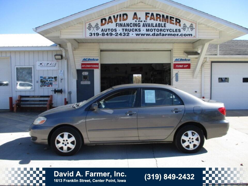 2006 Toyota Corolla LE 4 Door**3 Owner/Low Miles/122K**  - 5096  - David A. Farmer, Inc.