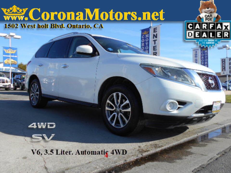 2013 Nissan Pathfinder SV  - 12667  - Corona Motors