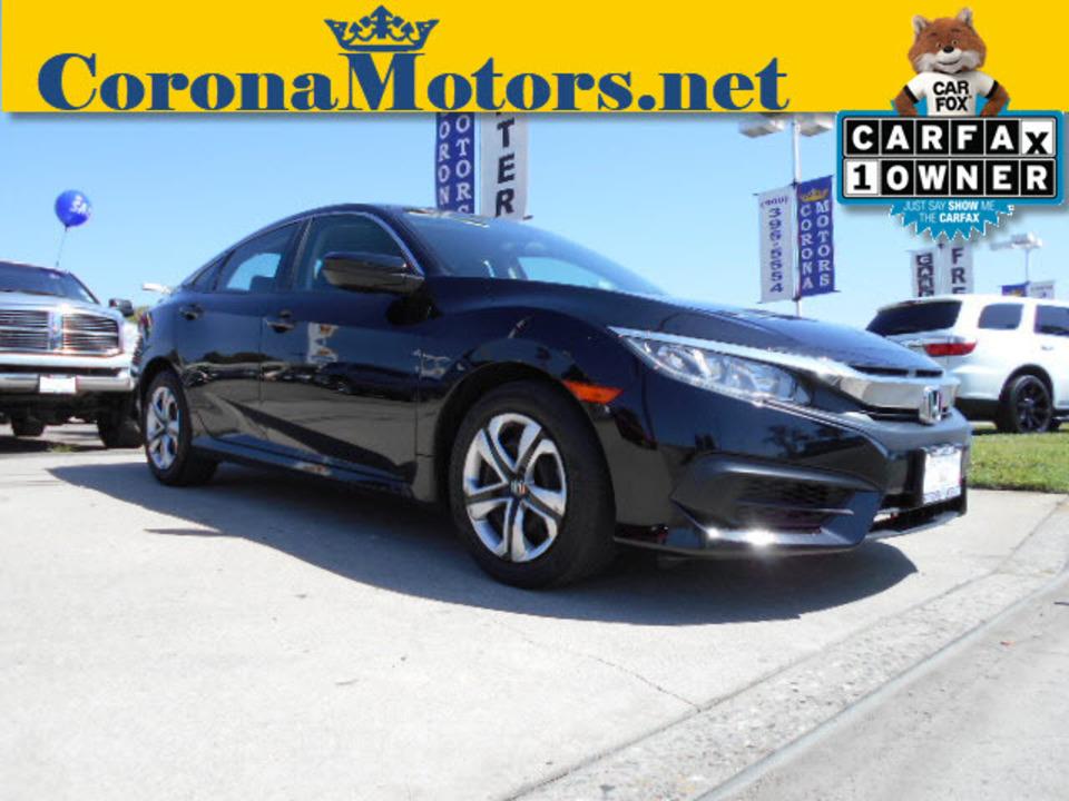 2016 Honda Civic Sedan LX  - 12539  - Corona Motors