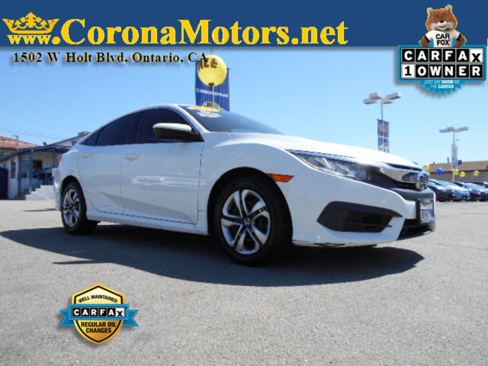 2016 Honda Civic Sedan LX  - 12767  - Corona Motors