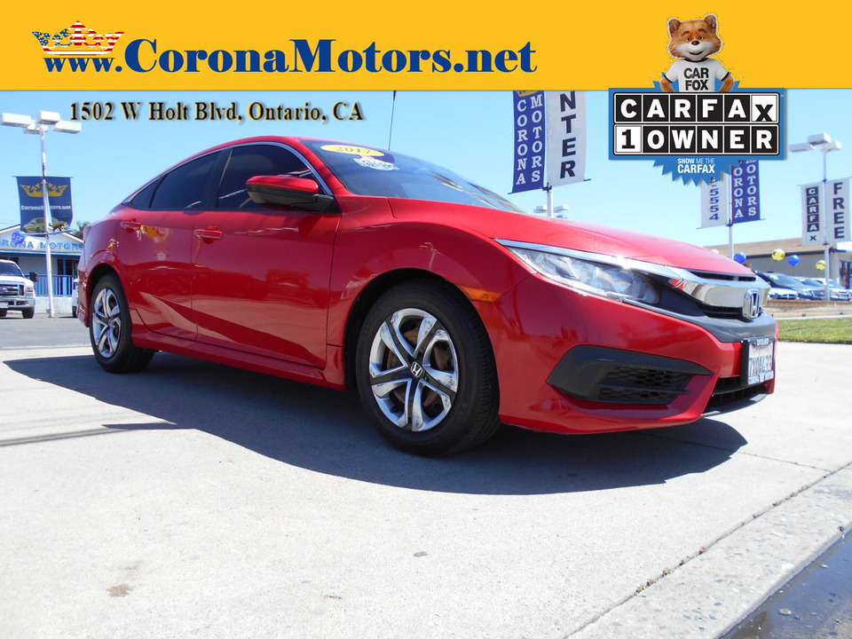 2017 Honda Civic Sedan LX  - 13061  - Corona Motors