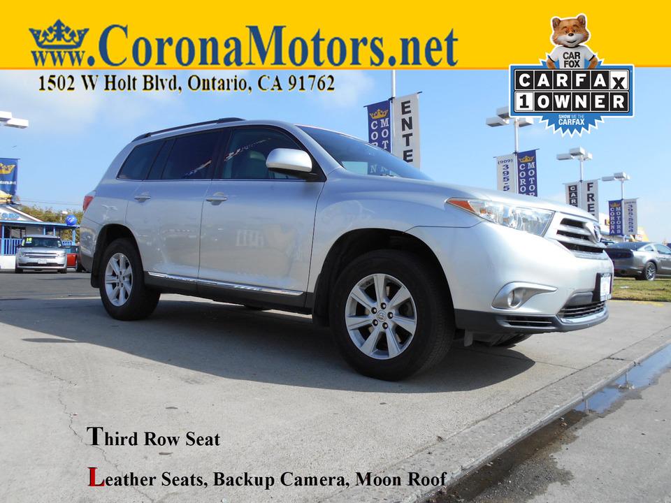2012 Toyota Highlander SE  - 12997  - Corona Motors