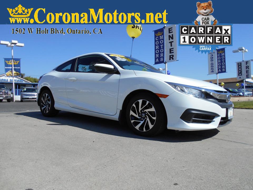 2017 Honda Civic Coupe LX  - 12834  - Corona Motors