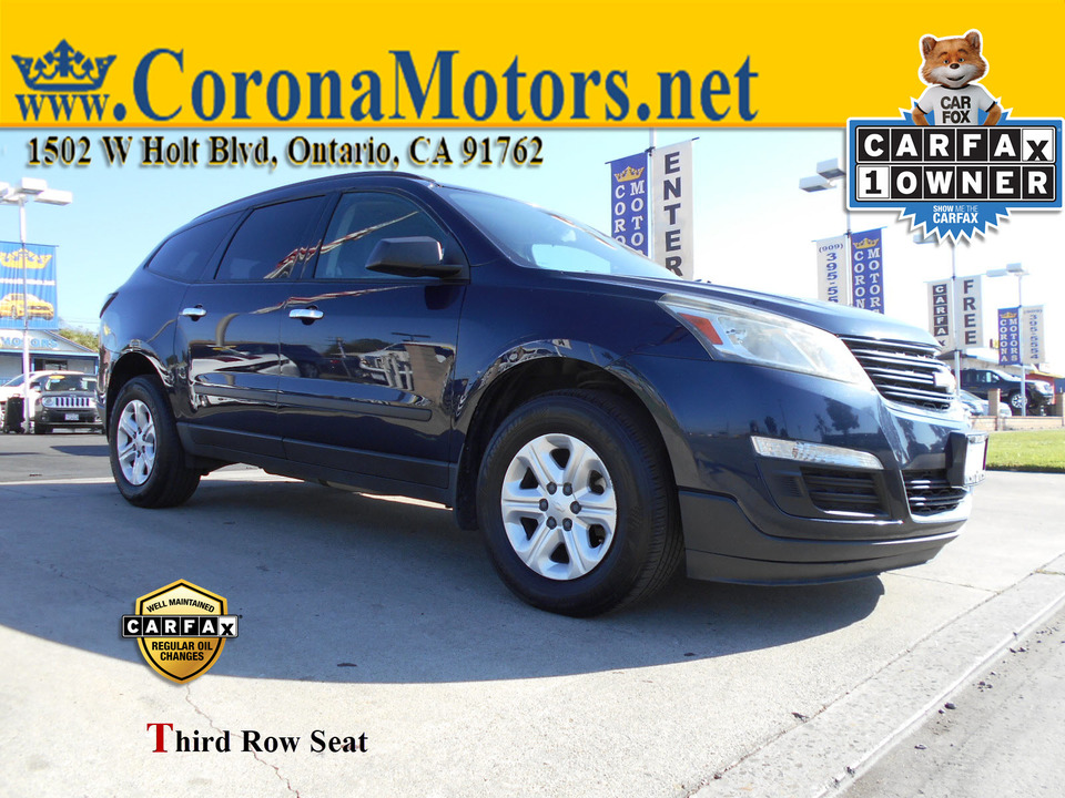 2015 Chevrolet Traverse LS  - 12910  - Corona Motors