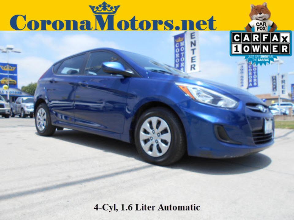 2017 Hyundai Accent SE  - 12457  - Corona Motors