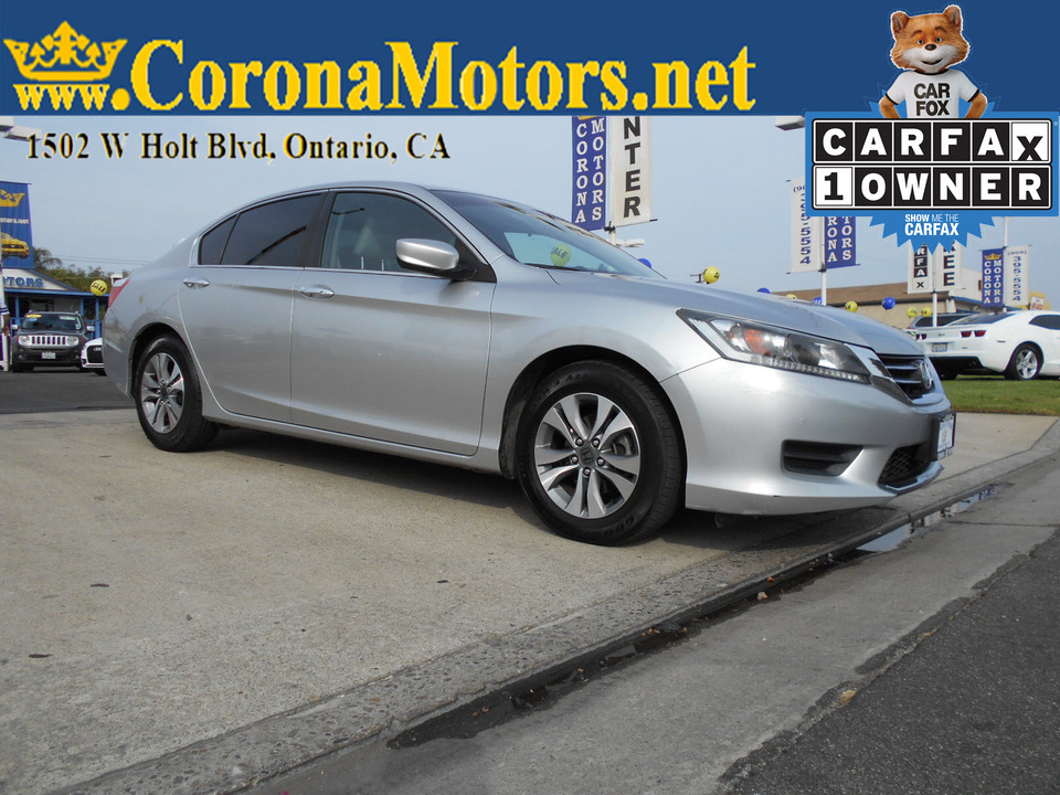 2014 Honda Accord Sedan LX  - 12928  - Corona Motors