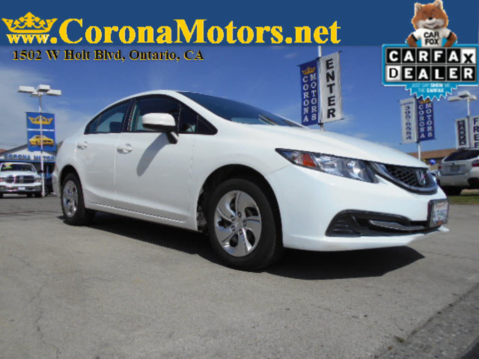 2015 Honda Civic Sedan LX  - 12713  - Corona Motors